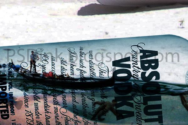 turorial photo effect membuat kehidupan di dalam botol.