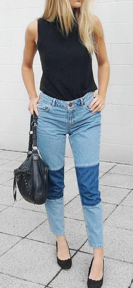 black details + denim