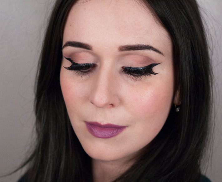 Eylure x Katy Perry Cool Kitty falsies, H&M Victoriana purple lipstick