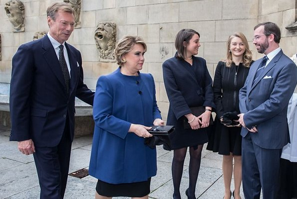 Duke Henri, Duchess Maria Teresa, Prince Guillaume, Princess Stephanie, Princess Alexandra and Prince Louis