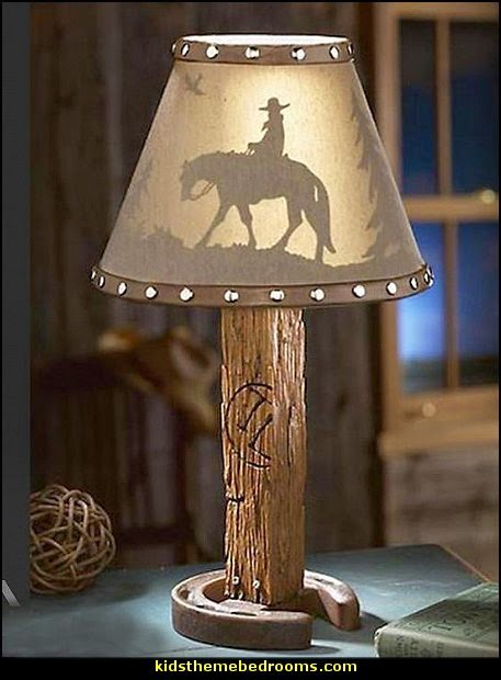 Cowboy Design Table Lamp