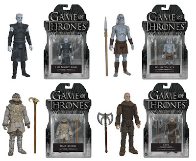 "Game of Thrones ""The Wall"" Series 3.75"" Action Figures by Funko - Rattleshirt (aka the Lord of Bones), Styr, The Night's King & a White Walker"