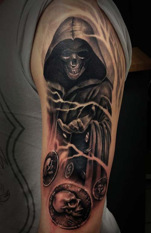 mystic grim reaper tattoos azrail dövmeleri