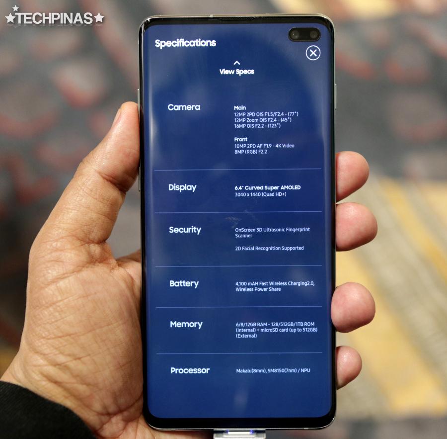 Samsung Galaxy S10+ Specs