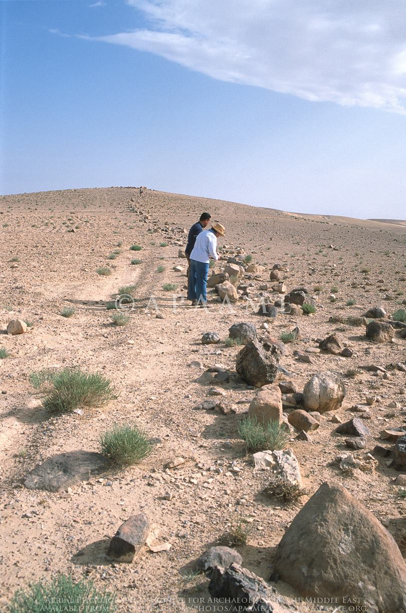 The Khatt Shebib wall was first reported in 1948 by Sir Alec Kirkbride, a British diplomat in Jordan. In 1948, who had seen the structure overhead while in an airplane and noticed a mysterious stone structure. It was a wall , known as the Khatt Shebib.