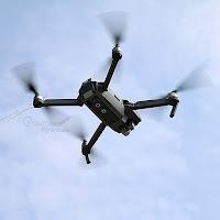 DJI Mavic Pro Flying in air bottom View