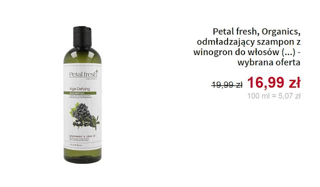 Petal fresh, Organics - odmładzający szampon z winogron