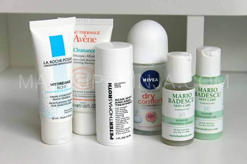 la roche posay hydreane riche avene cleanance mask nivea drx comfort mario badescu seaweed cleansing lotion review recenzija