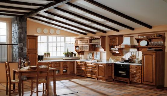 Dapur Modern dengan gaya Klasik   DESAIN DAPUR   elegant ...