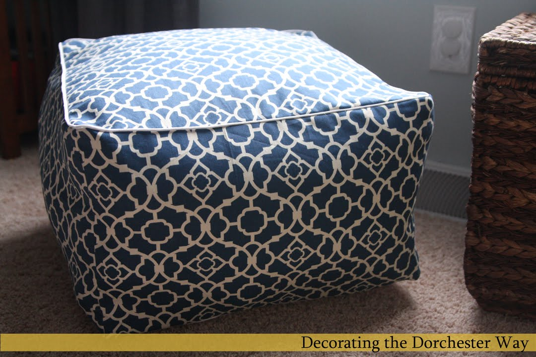Decorating The Dorchester Way My Version Of The Pouf