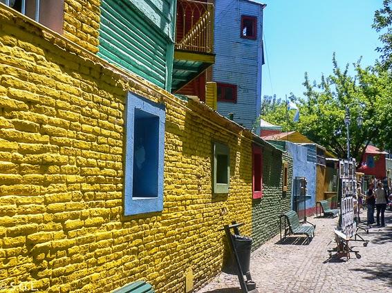 Vista de la calle caminito en Buenos Aires