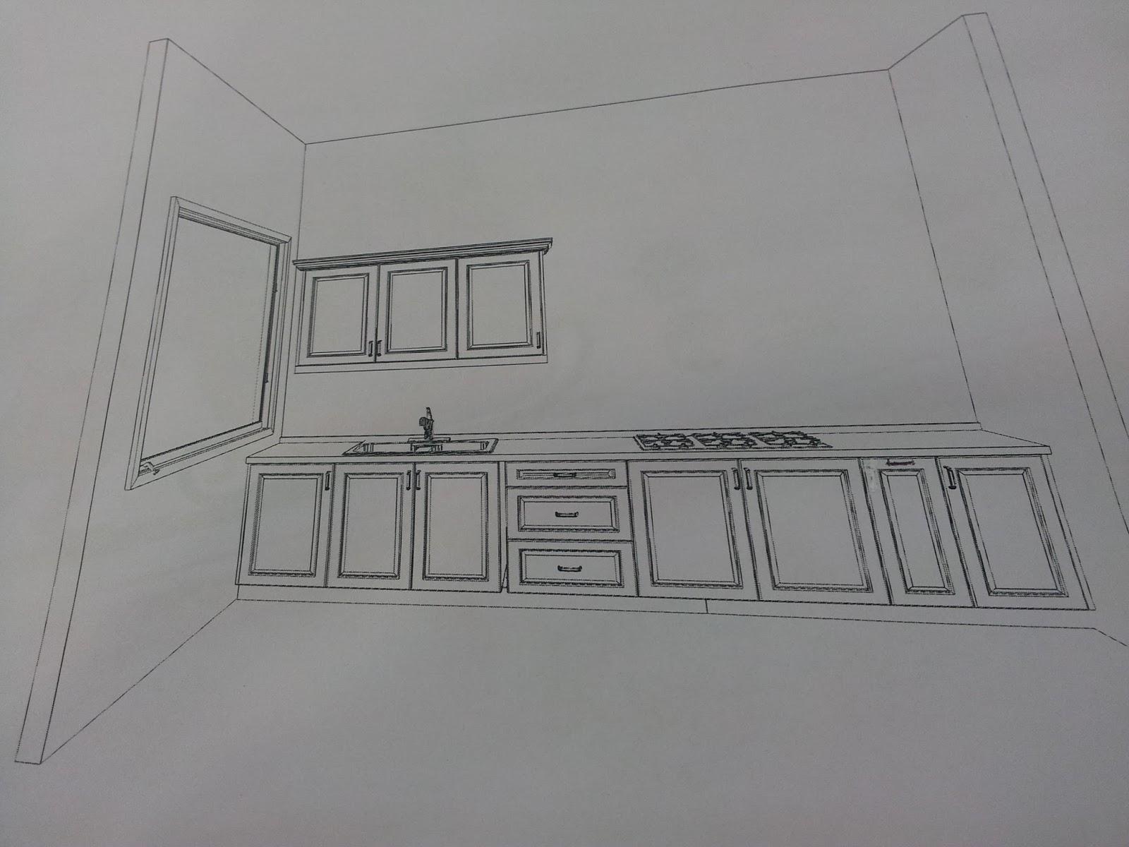 Pelan Kabinet  Dapur Desainrumahid com