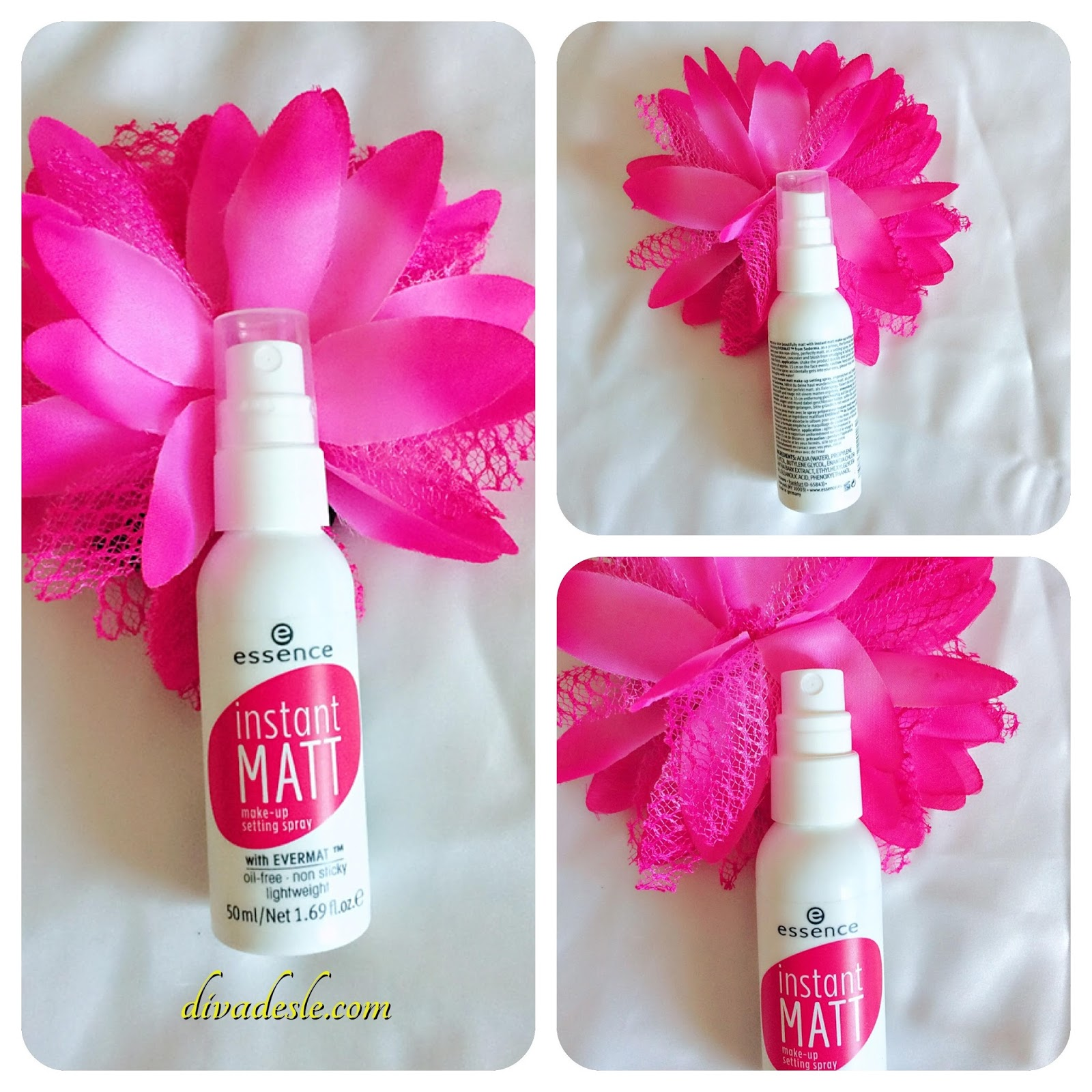 Essence Instant Matt Makeup Setting Spray Review Diva Desle