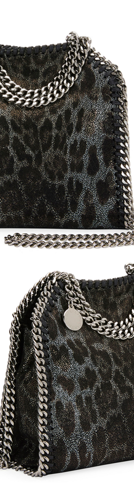 Stella McCartney Falabella Tiny Leopard Tote Bag