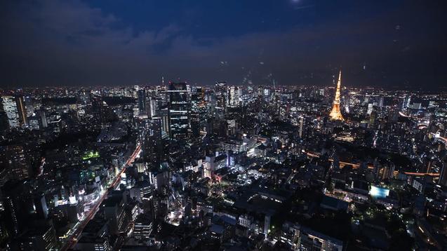 Tokyo Sunset With Rewind Wallpaper Engine