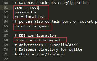 Konfigurasi Database smsdrc - Install Gammu