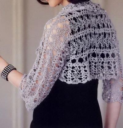 Crochet Sweaters Crochet Pattern Of Lace Shrug Classy