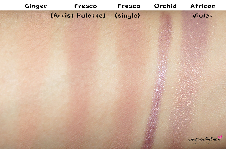 Simple Purple Eye Makeup Tutorial - Laura Mercier Fresco & Caviar Stick Orchid Swatches Ginger African Violet