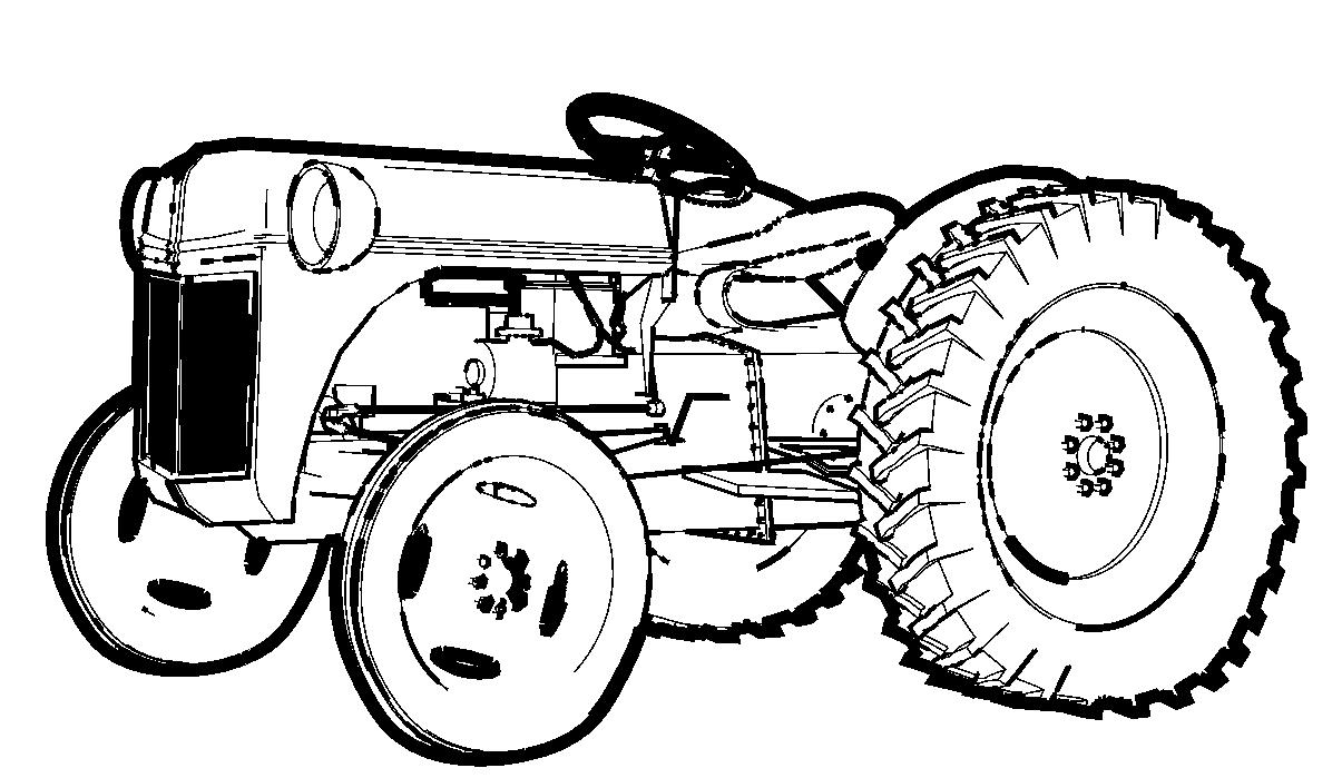 Dessins et coloriages page de coloriage grand format imprimer un tracteur sans cabine - Coloriage tracteur claas ...