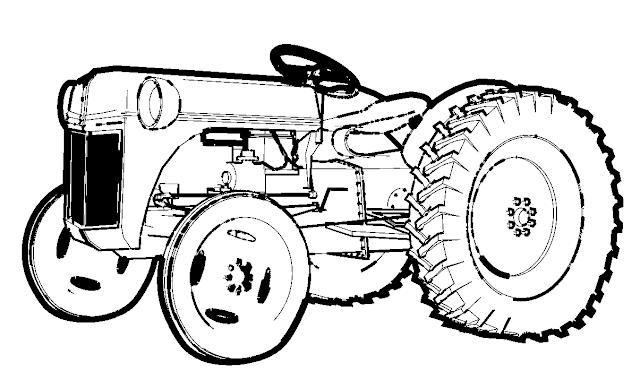 coloriage tracteur gratuit