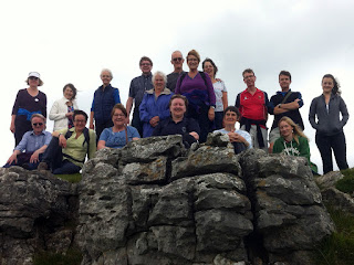 Group of walkers on the music week at Scargill, N Yorks