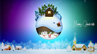 Free Merry Christmas Desktop Background Wallpaper