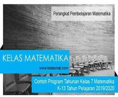 Contoh Program Tahunan Kelas Matematika Tahun Pelajaran 2019-2020