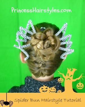 Spider hair tutorial for Halloween