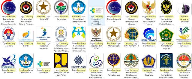 Daftar Logo Lambang Kementerian di Indonesia-Library Pendidikan