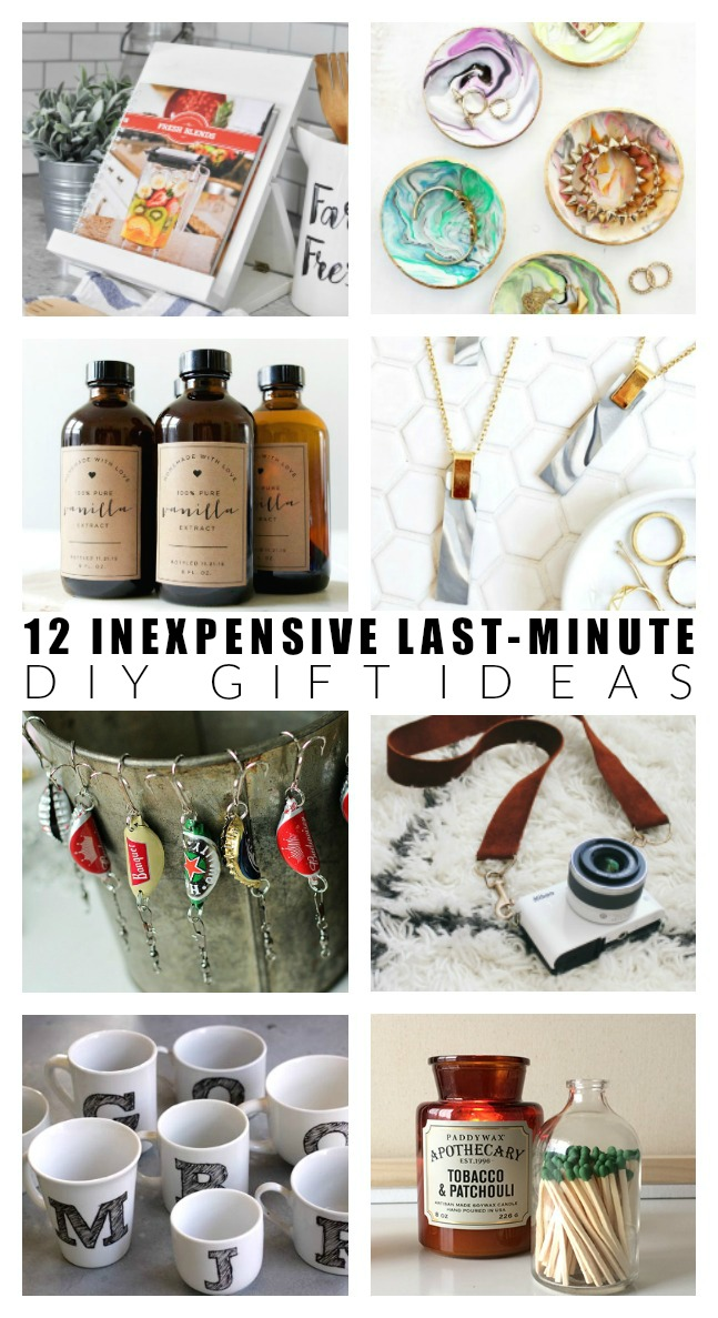12 Inexpensive Last Minute Diy Gift Ideas Little House Of Four