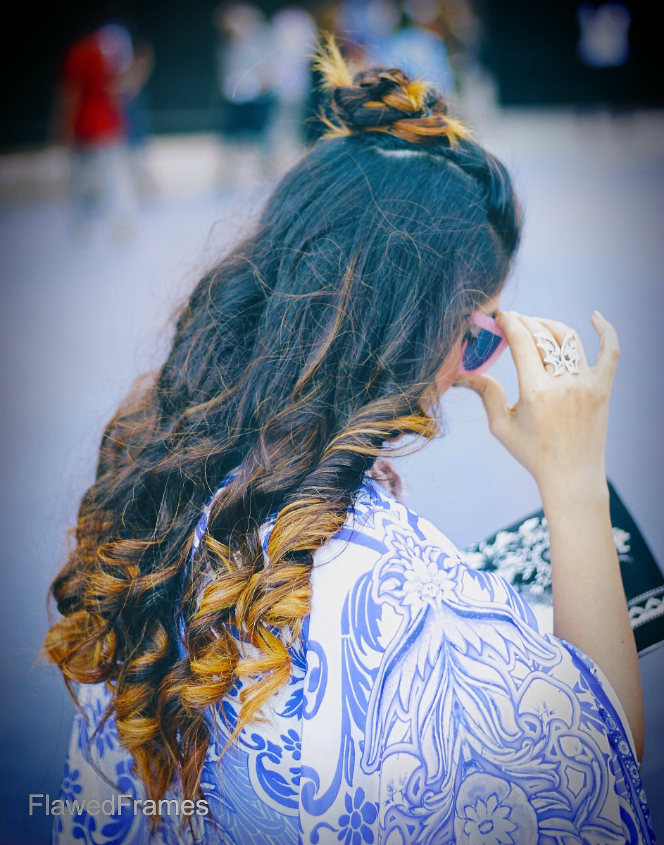 Oriental fashion and the kimono, amazon india fashion week, hair curls