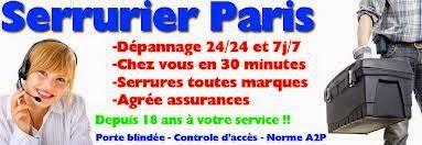 83f069a387ac Serrurier pas cher paris. Ouverture de porte Paris 24h 24h et 7j 7j