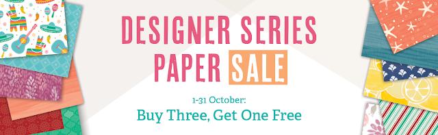 Buy 3 get 1 free Designer Series Paper Stampin' Up!