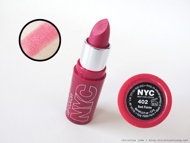 New York Color Expert Last Lipstick Swatches 402 Red Flame