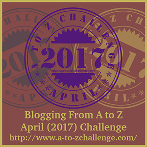 A to Z Challenge participation badge