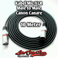 Kabel Mic XLR Male To Male Canon Canare 10 Meter