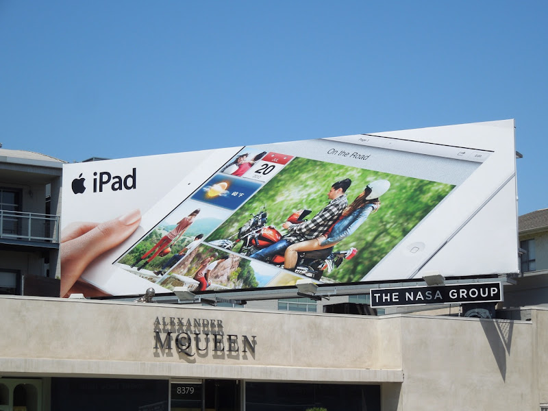 iPad On the road billboard