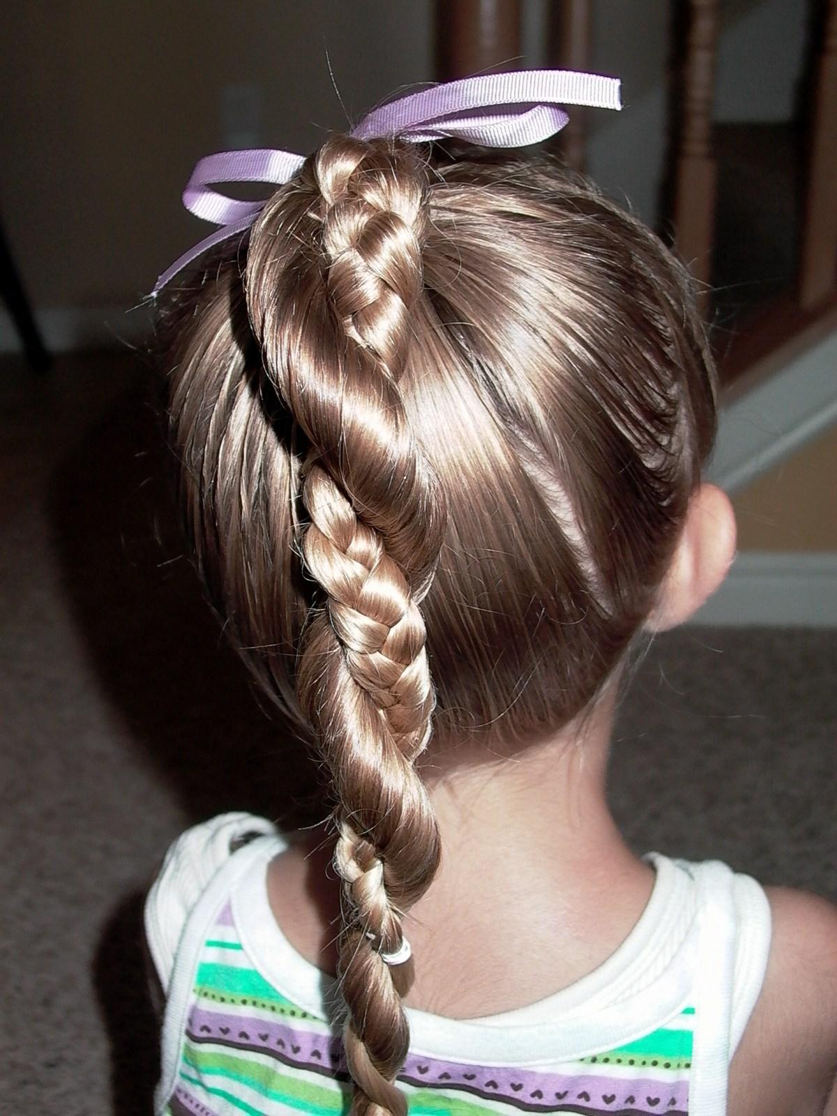 Little Girl's Hairstyles: Easy Twist Around Braided ...