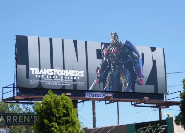 Transformers Last Knight June 21 billboard