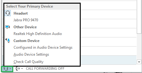 Unable to make Audio / Video call using Skype for Business