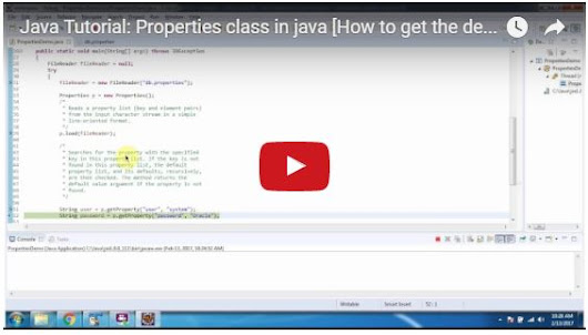 Java Tutorial: Properties class in java [How to get the default value if the key is not present]