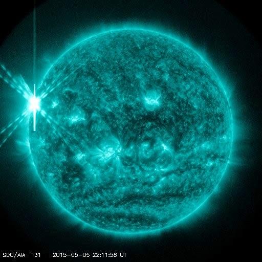 maior explosão solar de 2015