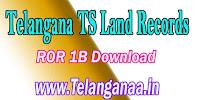 Telangana TS ROR 1B Free Download TS Land Records ROR Download