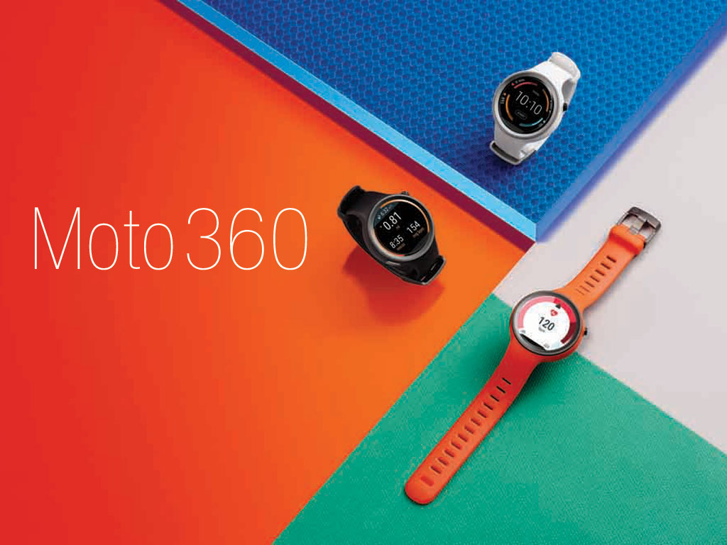 The three Moto 360 (2nd Gen) color and size options