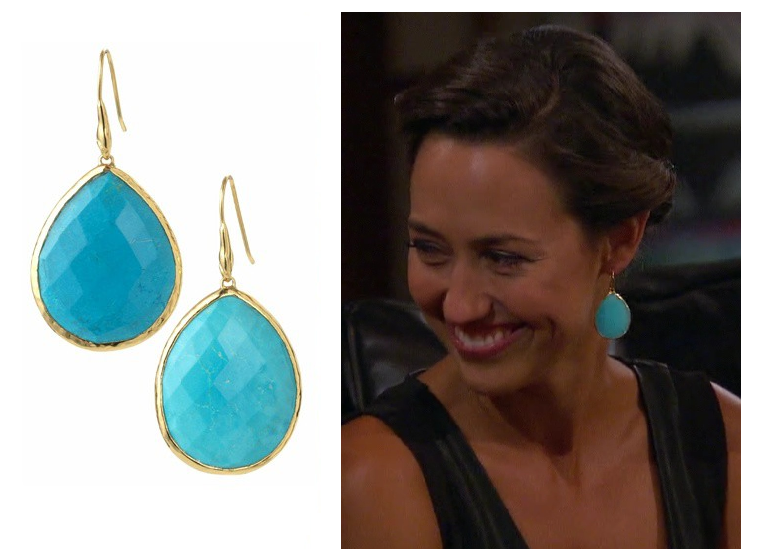 Turquoise Serenity Stone Drop Earrings on The Bachelor