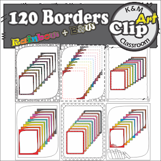 https://www.teacherspayteachers.com/Product/8DAYSOFCHRISTMAS-Borders-in-Rainbow-Colors-Clip-Art-2539062