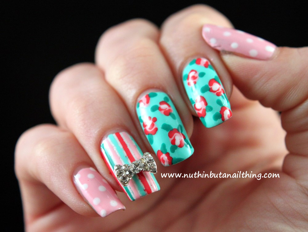 nuthin' but a nail thing  Vintage style nail art