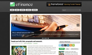 eFinance Blogger Template