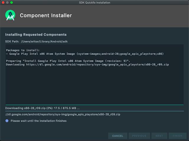 emulator-download-version