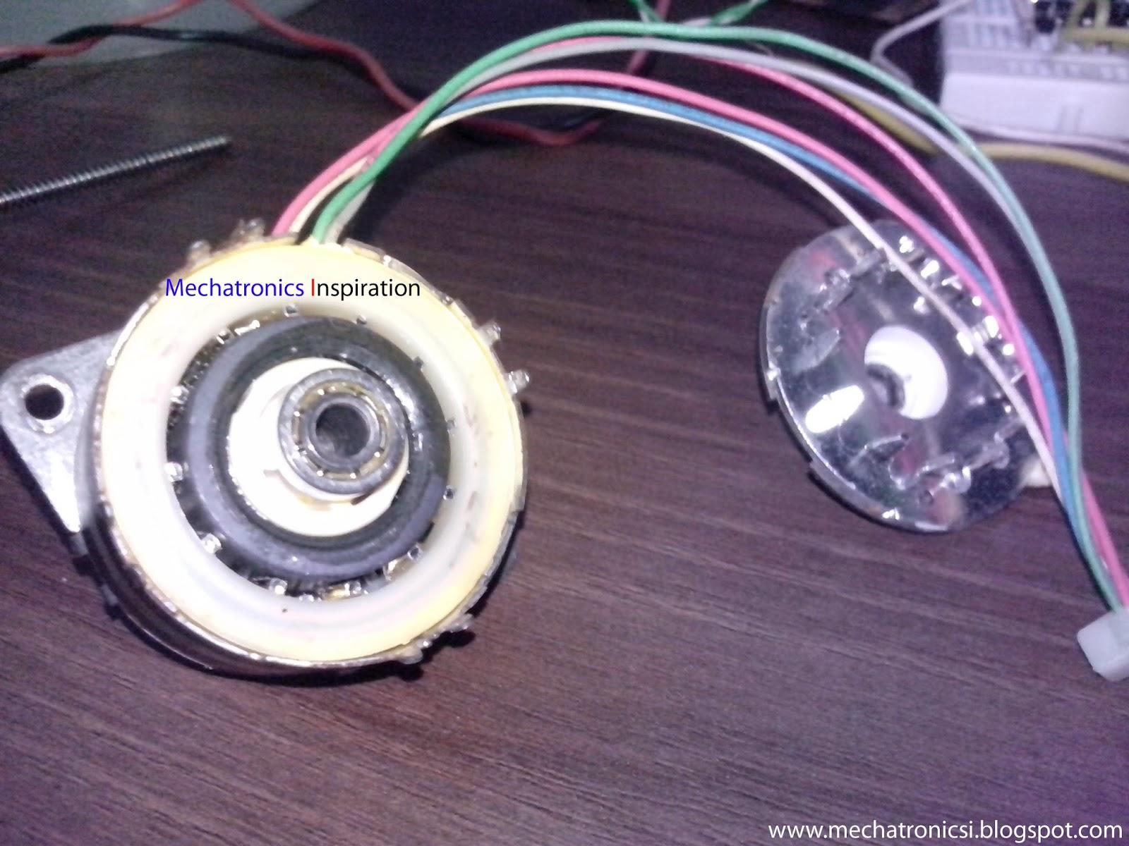 inside stepper motor.